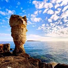 Flowerpot rock formations, Fathom Five National Marine Park, Tobermory, Ontario.