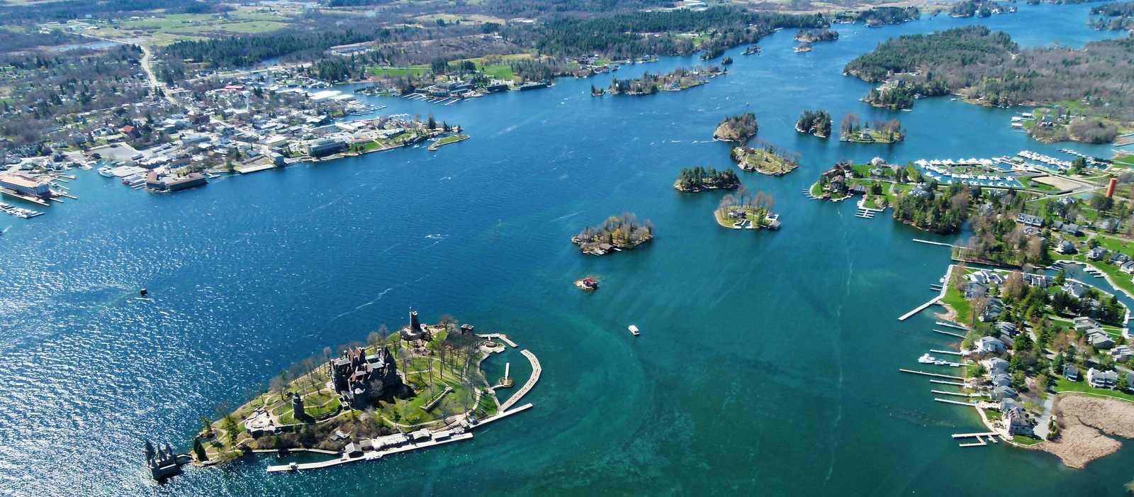 Blick auf die Thousand Islands