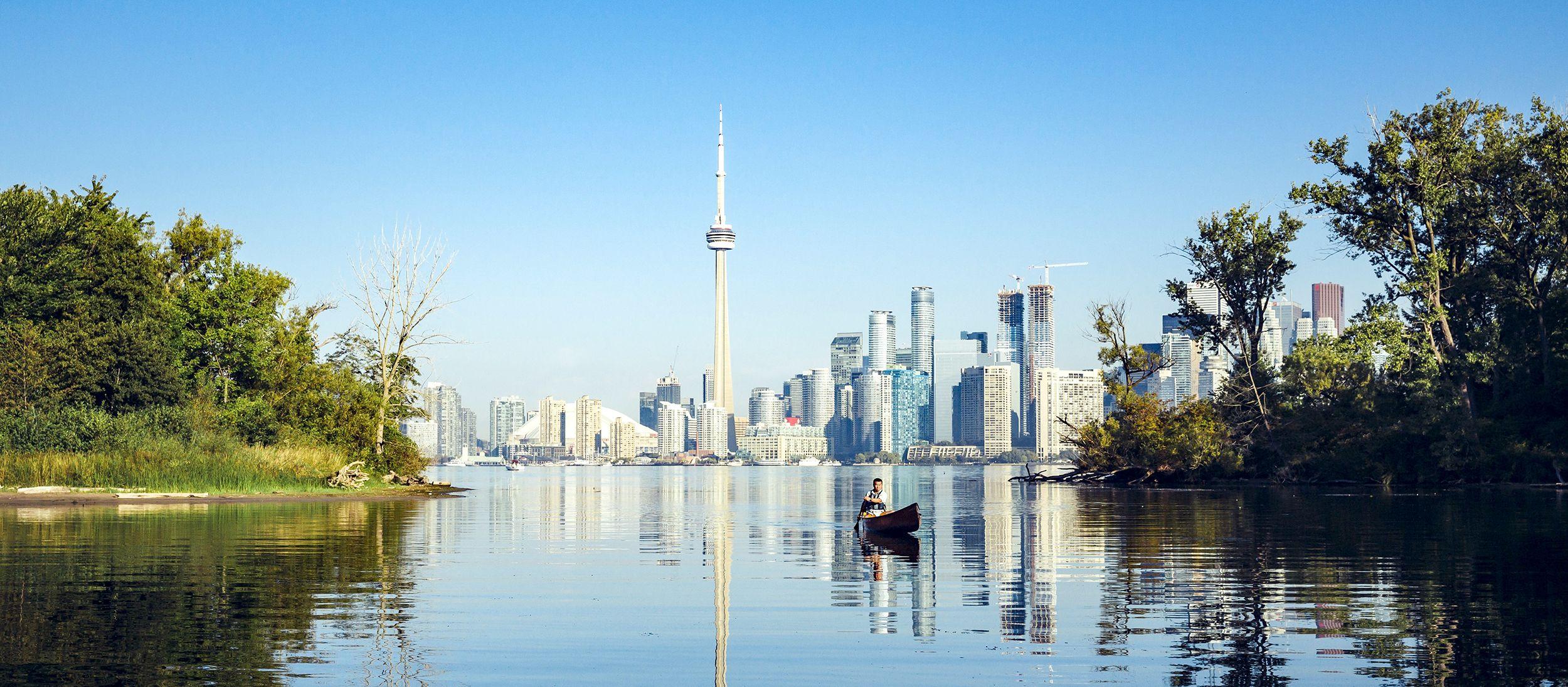 Die Syline von Toronto, Kanada