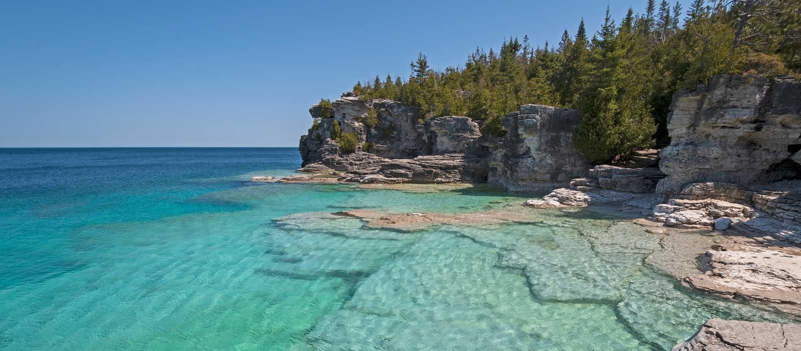 Blick auf Lake Huron im Bruce Peninsula National Park, Ontario