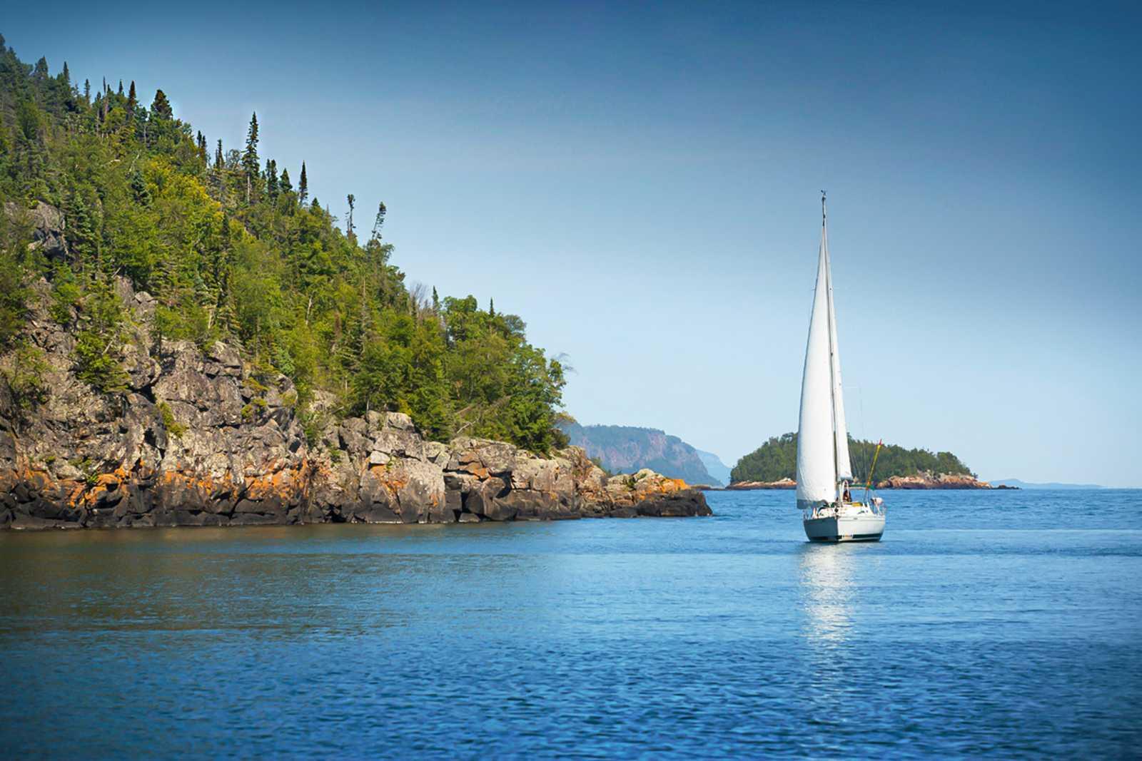 Segeln auf dem Lake Superior