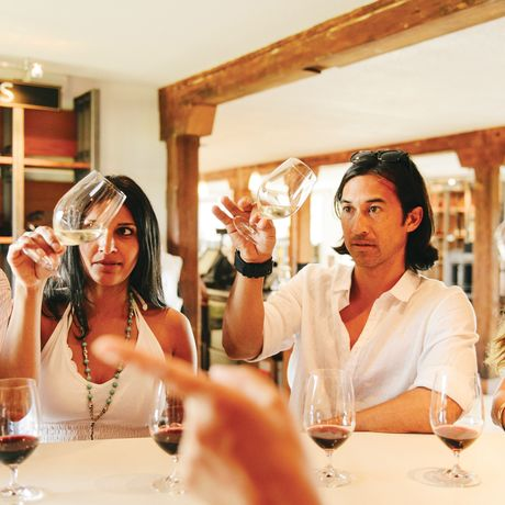 Weinprobe in der Inniskillin Winery