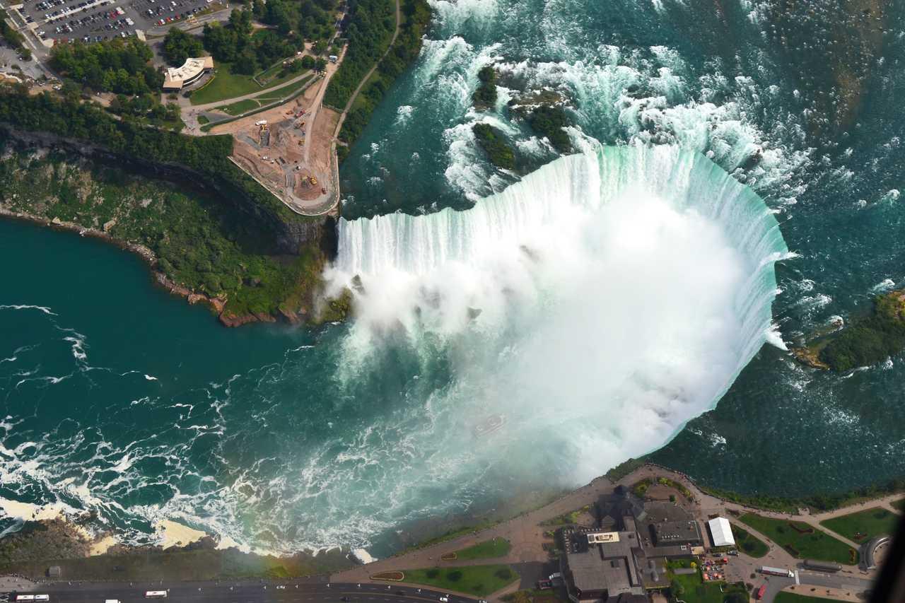 Helikopterflug über die Niagara Falls