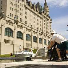 Schleusensystem vor dem Château Laurier in Ottawa, Kanada
