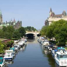 Der Rideau Canal in Ottawa, Kanada