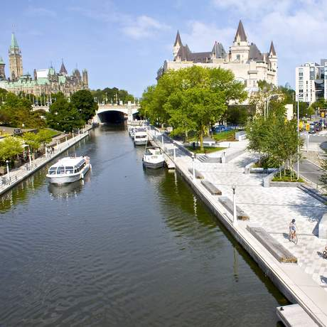 Rideau Canal in Downtown Ottawa, Ontario