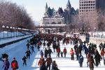 Eislaufen auf dem Rideau Canal in Ottawa
