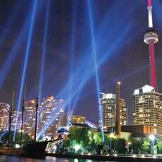 Toronto Waterfront bei Nacht