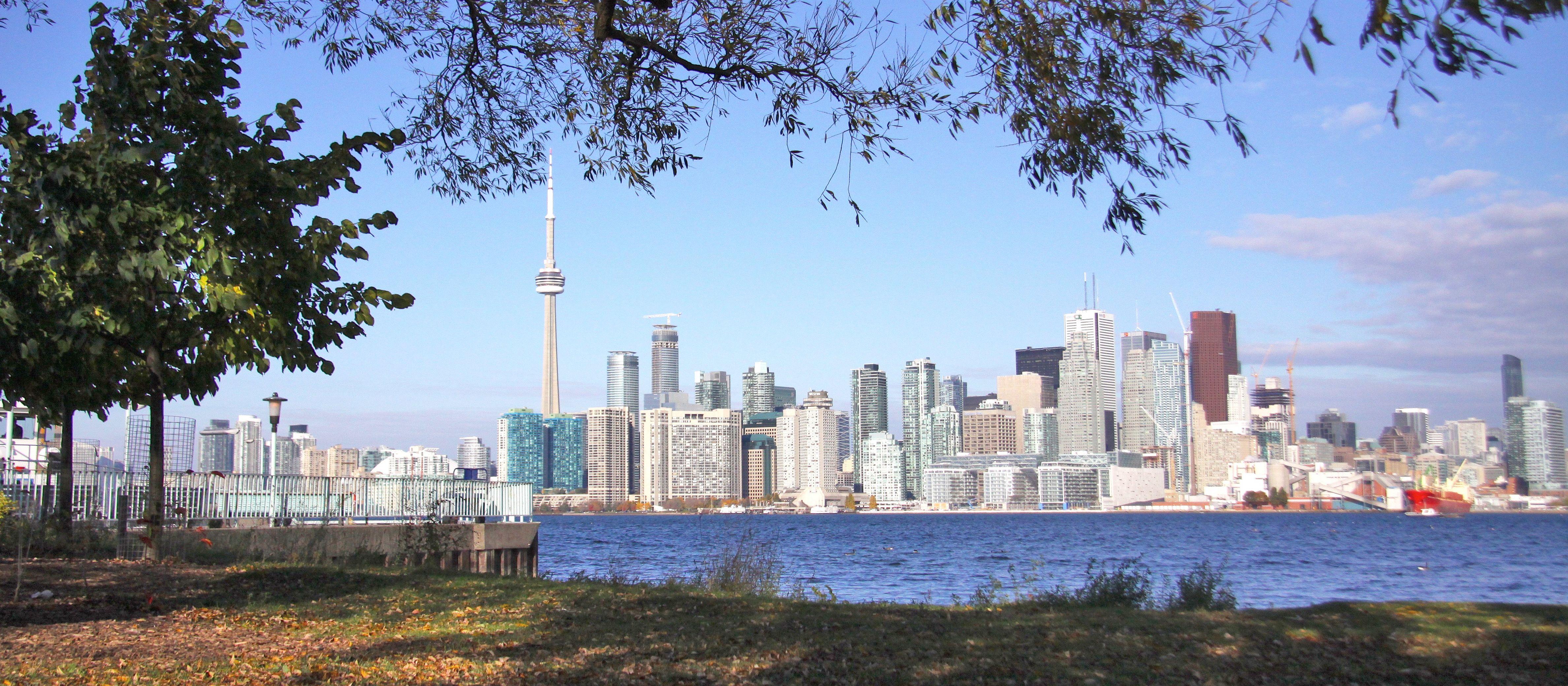 Ward´s Island: Blick auf Torontos Skyline