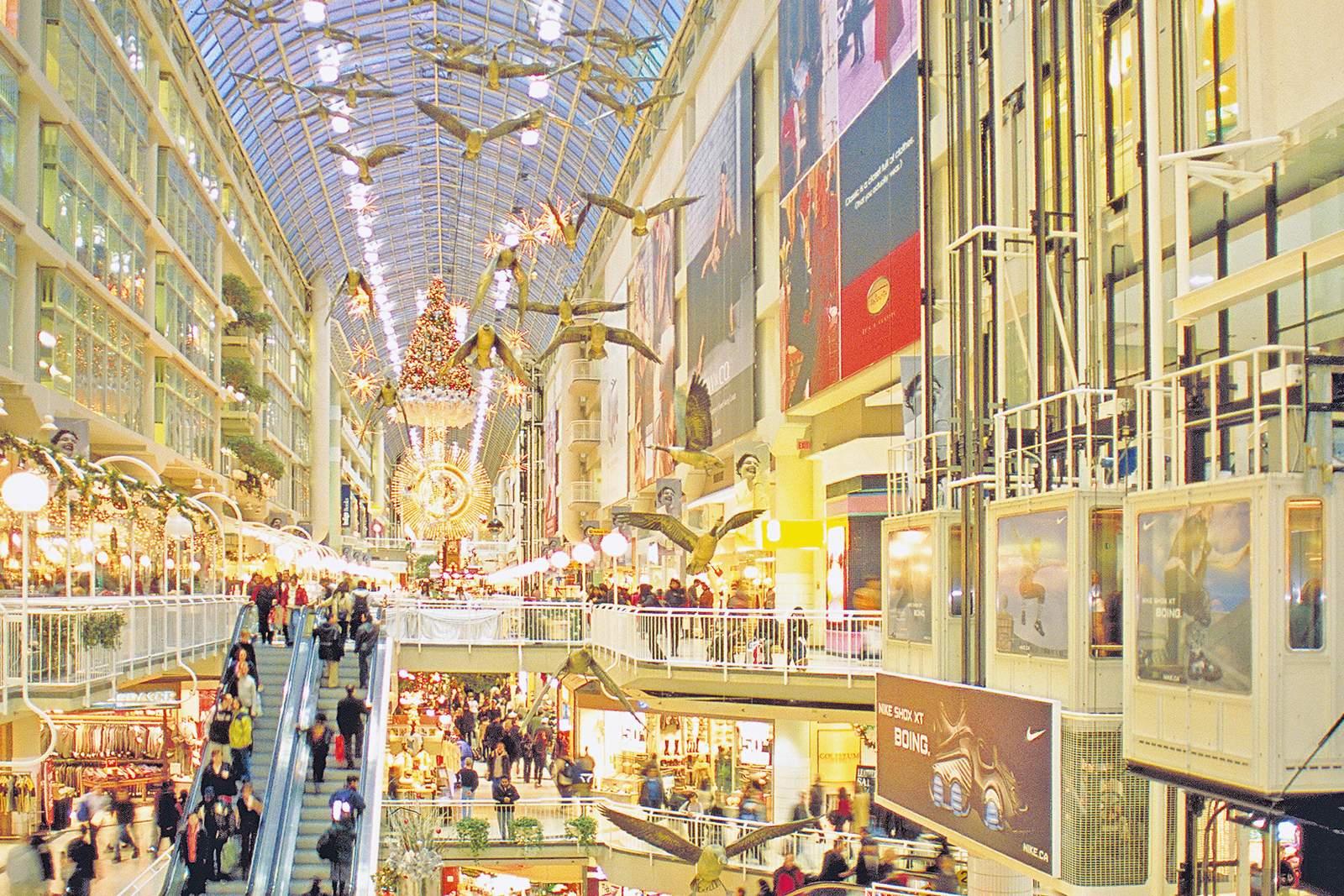 Innenansicht Eaton Centre in Toronto
