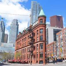 Das Gooderham Flatiron Building in Toronto