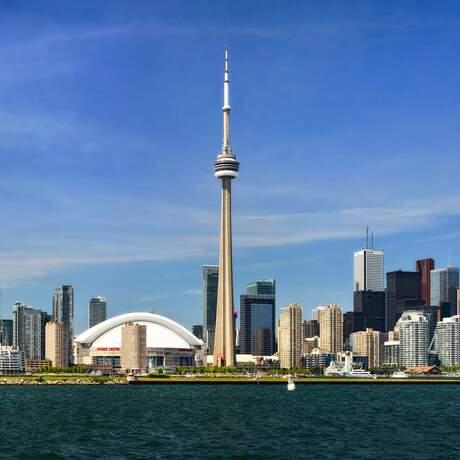 Die Skyline von Toronto am Tag
