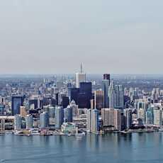 Die Skyline von Toronto aus der Luft