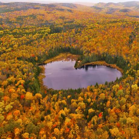 Heart Lake im La Mauricie National Park, Quebec