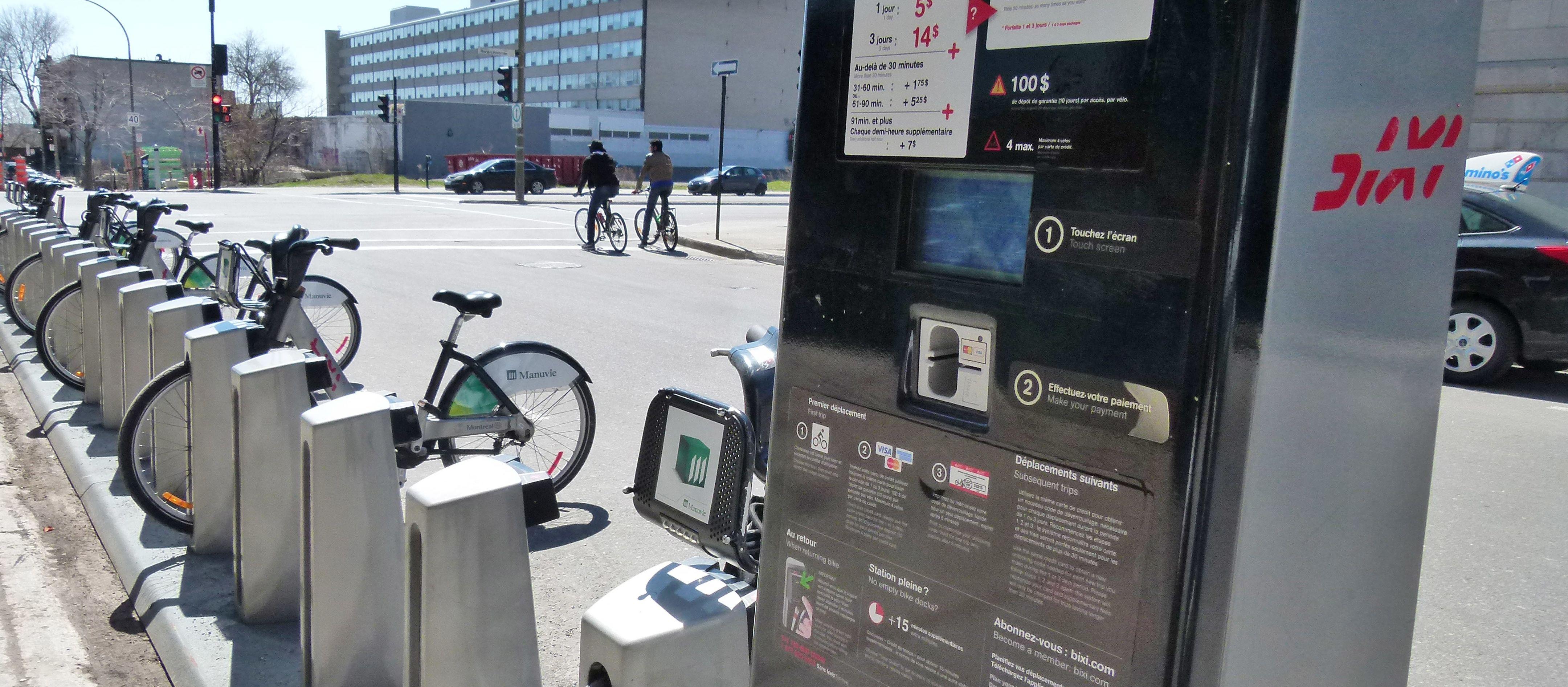 Bixi-Station in Montréal