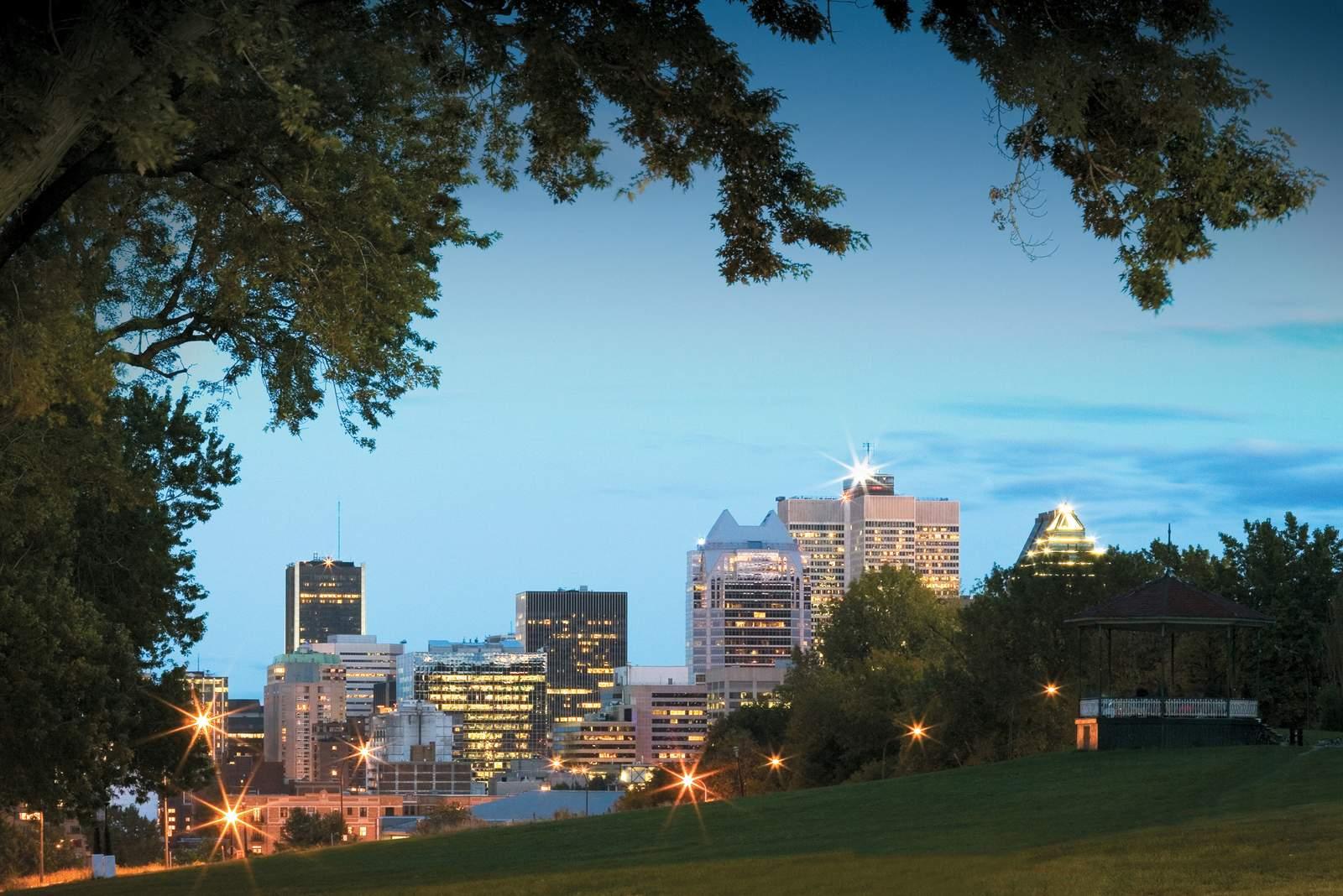 Montreal Skyline vom Mount Royal
