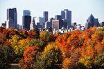 Die Skyline von Montréal in Herbst