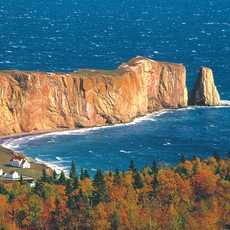 Perce Rock Luftaufnahme