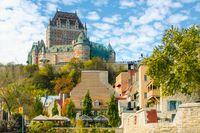 Das Schloss Château Frontenac in Quebec