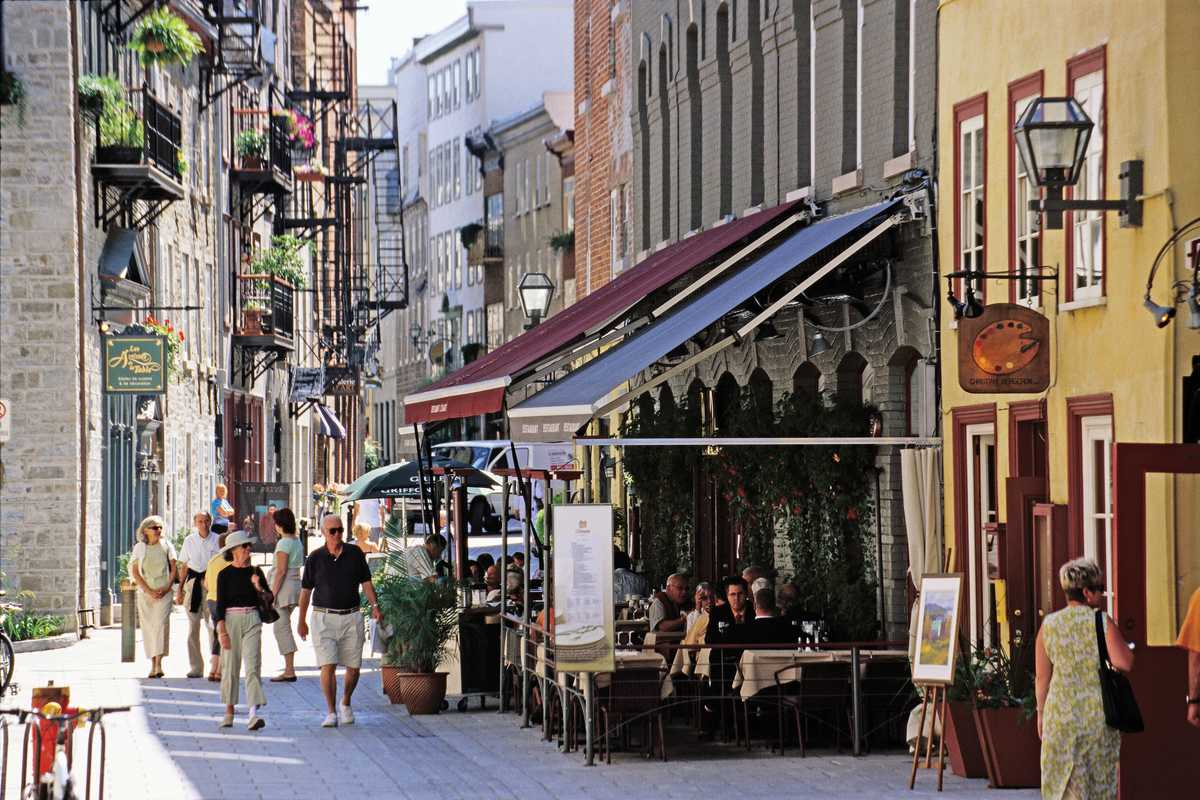 Spaziergang durch Downtown Quebec