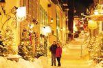 Verschneite Winterlandschaft in Québec City