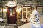 Weihnachtliches Haus in Vieux-Québec