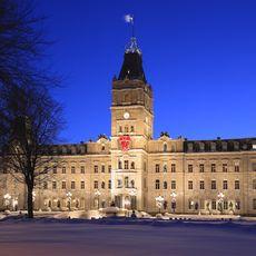 Parliament Building auf dem Parliament Hill in Old Quebec