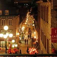Nacht in der Rue du Petit Champlain