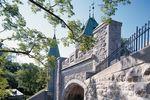 Die Stadtmauer Saint Louis Gate in Québec City