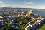 Die Stadt Québec City aus der Vogelperspektive