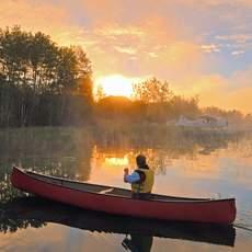 Kanu-Idylle auf dem Churchill River