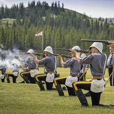 Soldaten in der Fort Walsh National Historic Site, Saskatchewan
