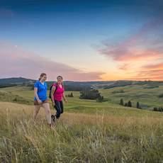 Wandern in der Fort Walsh National Historic Site, Saskatchewan
