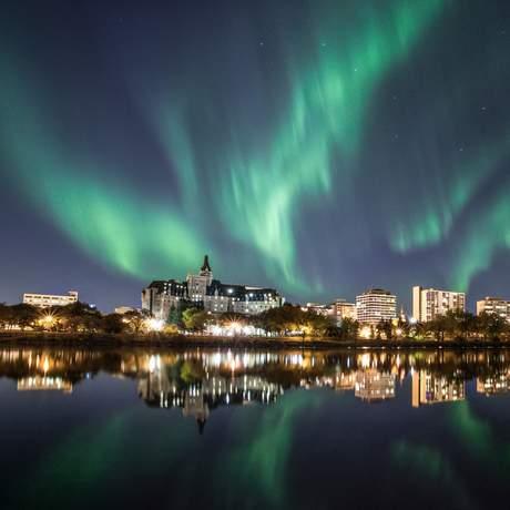 Polarlichter über Saskatoon