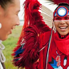 First Nations beim Standing Buffalo Indian Pow Wow