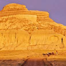 Castle Butte in den Big Muddy Badlands