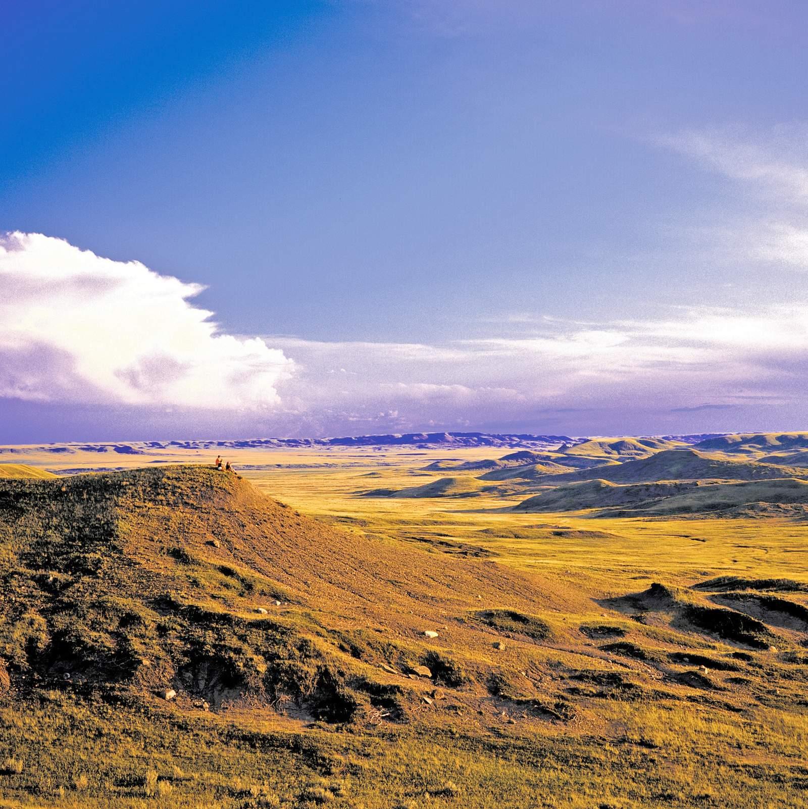 Weite Landschaft im Grasslands National Park
