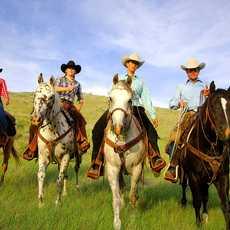 Westernreiten auf der La Reata Ranch, Saskatchewan