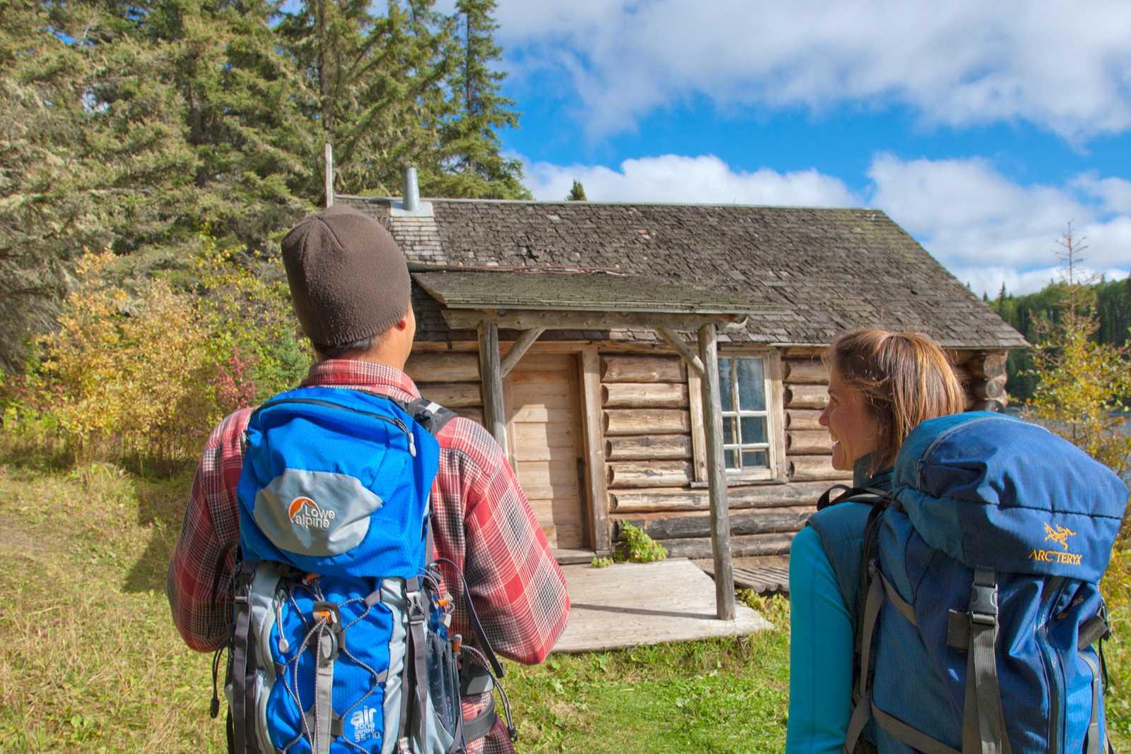 Wanderung zu Grey Owl Hütte im Prince Albert National Park
