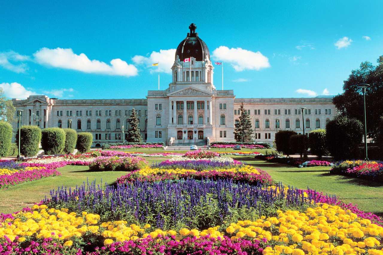 Parlamentsgebäude in Regina, Saskatchewan