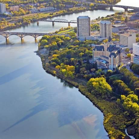 Blick auf Saskatoon