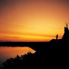 Sonnenuntergang im Wanuskewin Heritage Park