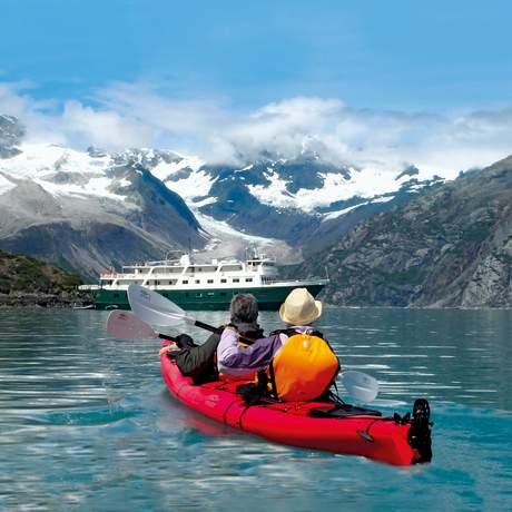 Kayak fahren in der Inside Passage