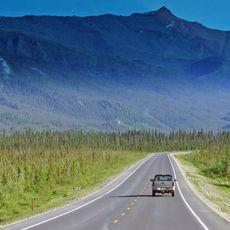 Unterwegs auf dem Dalton Highway an der Brooks Range
