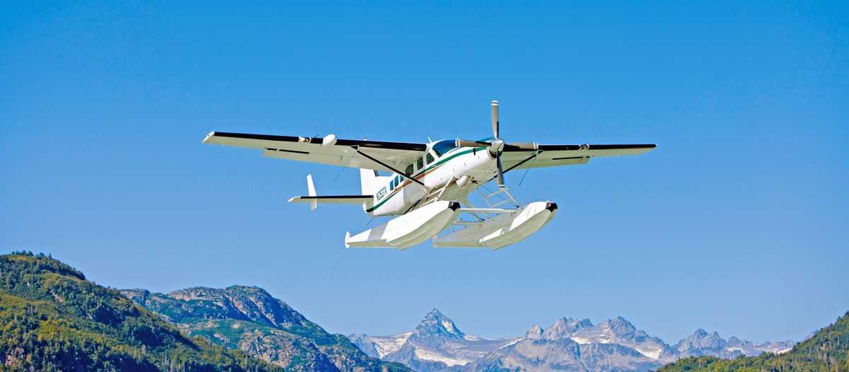 Wasserflugzeug an der Redoubt Bay
