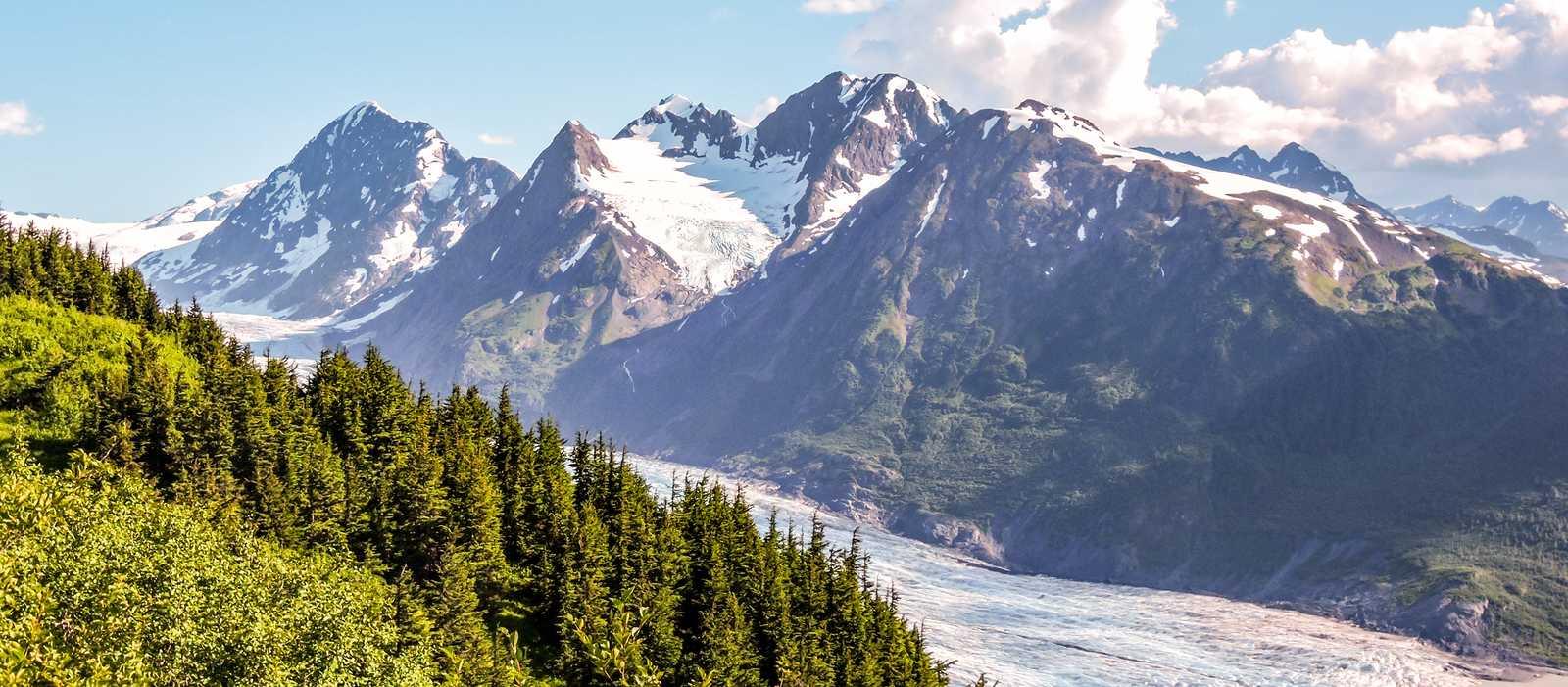 Aussicht auf den Spencer Glacier