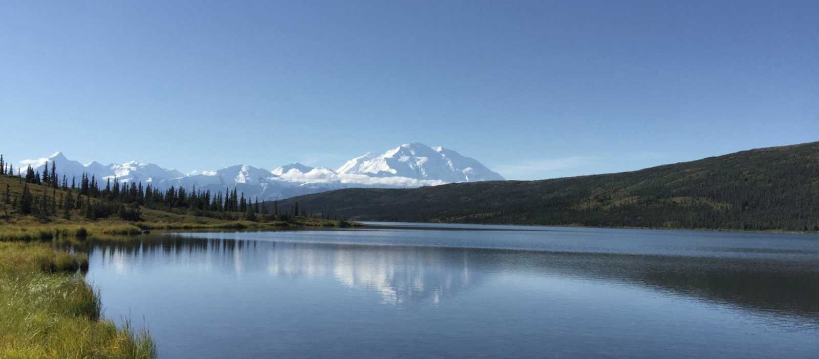 Blick auf den Denali Berg in Alaska