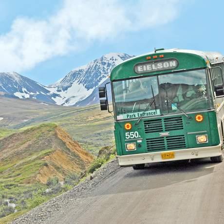 Bus von Kantishna zum Parkeingang