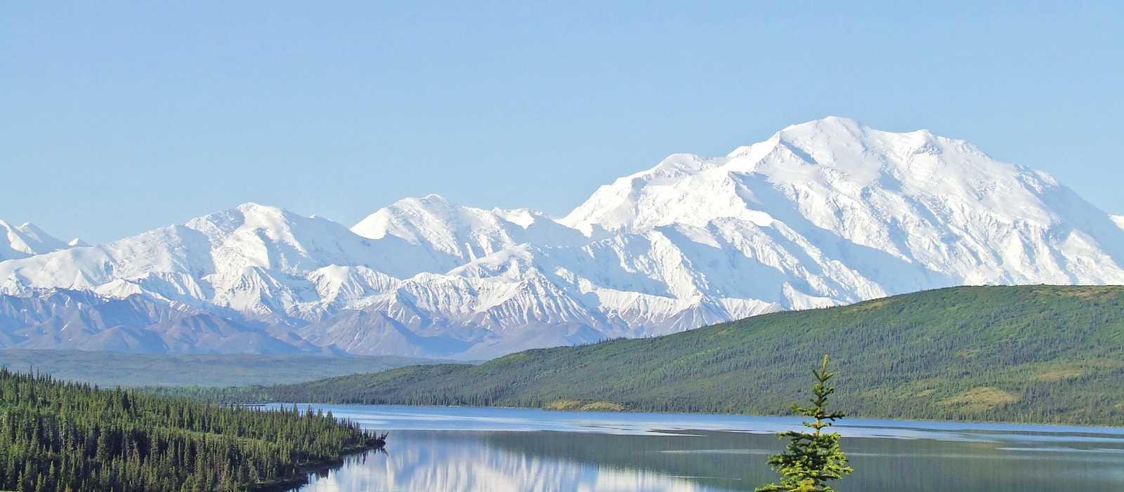 Blick auf den Mount McKinley
