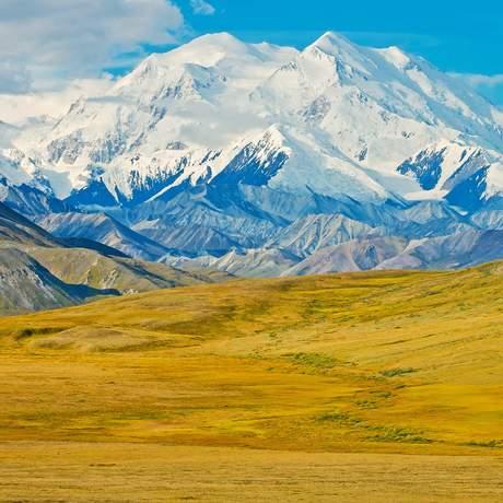 Park Road und Mount McKinley